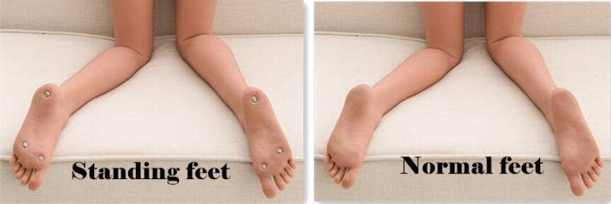 Nohy s možností stání vs. bez možnosti stání